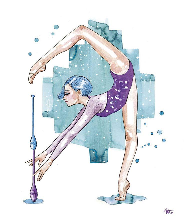 город картинки рисунки гимнастки нужно думать