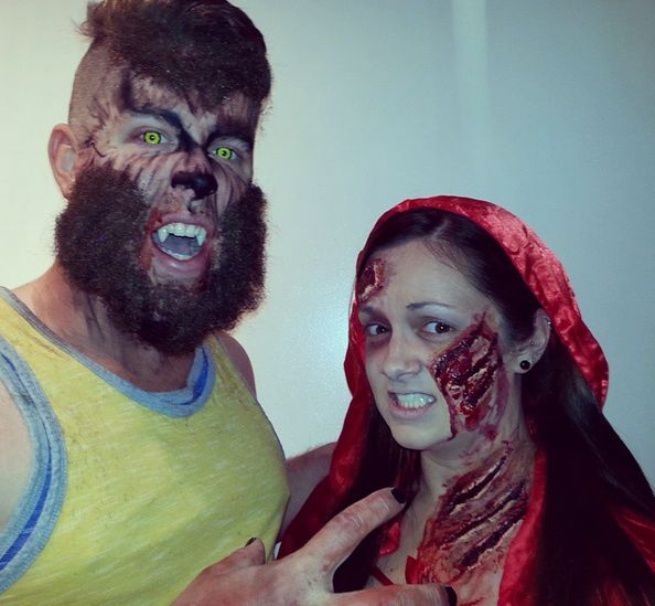 Werewolf Scary Couples Halloween Costumes