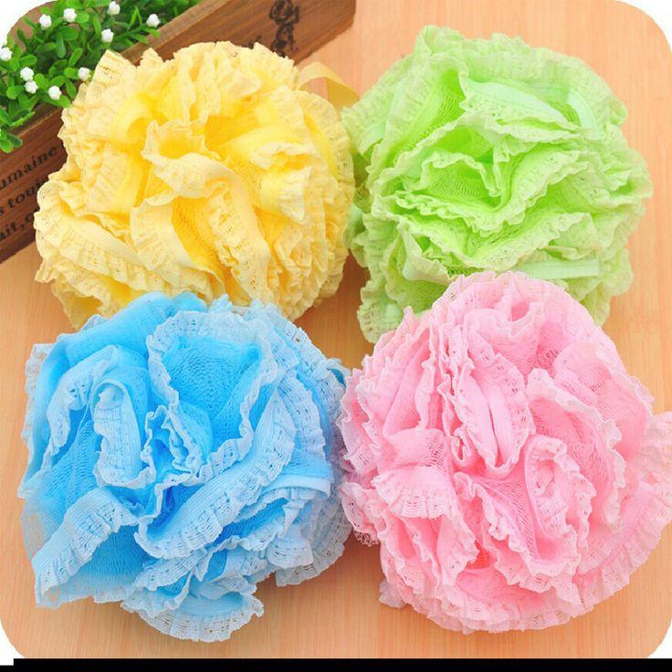 Hot sale Multicolour bath ball bath companion showers bath flower bath sponge mesh sponge