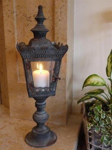New Black Antique Garden Hurricane Large Lamp Lantern Pillar Candle Holder 56cm. in Home & Garden, Home Décor, Other Home Décor | eBay!
