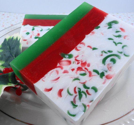 Christmas Soap  Santa's Beard  Soap  Glycerin Soap  by SoapGarden, $5.50