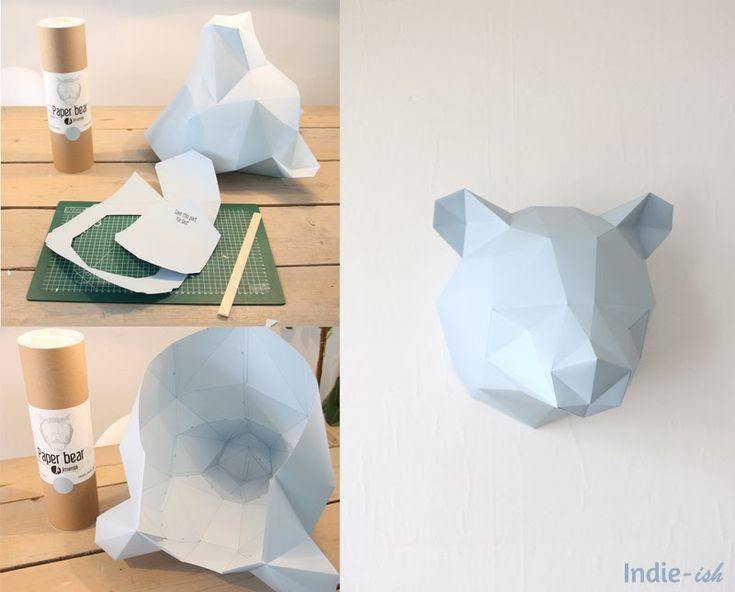 Création d'un ours en papier pour décorer la chambre (enfant - parents) mais aussi le salon