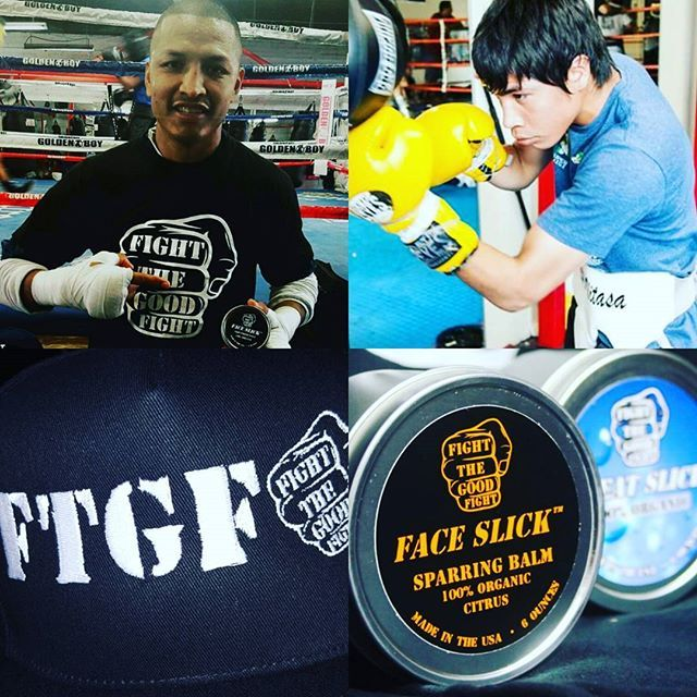 Sweat Slick body cream Looking forward to some great fights tonight! FTGF @asesino_325 and @boxer96__ #FIGHTTHEGOODFIGHT #FTGF #SWEATSLICK#FACESLICK #sparringbalm #organic #sweat #fighter #ufc #mma #boxing #bjj #gym #workout #training #fight #fightready #boxeador #sparring #boxeo #martialarts #crossfit #garciavsguerrero #octagon #invictafc #ammo #topclassboxing #pugilism  #fightthegoodfightammo.com Use promo code: mma and save 15% todaywww.faceslick.com