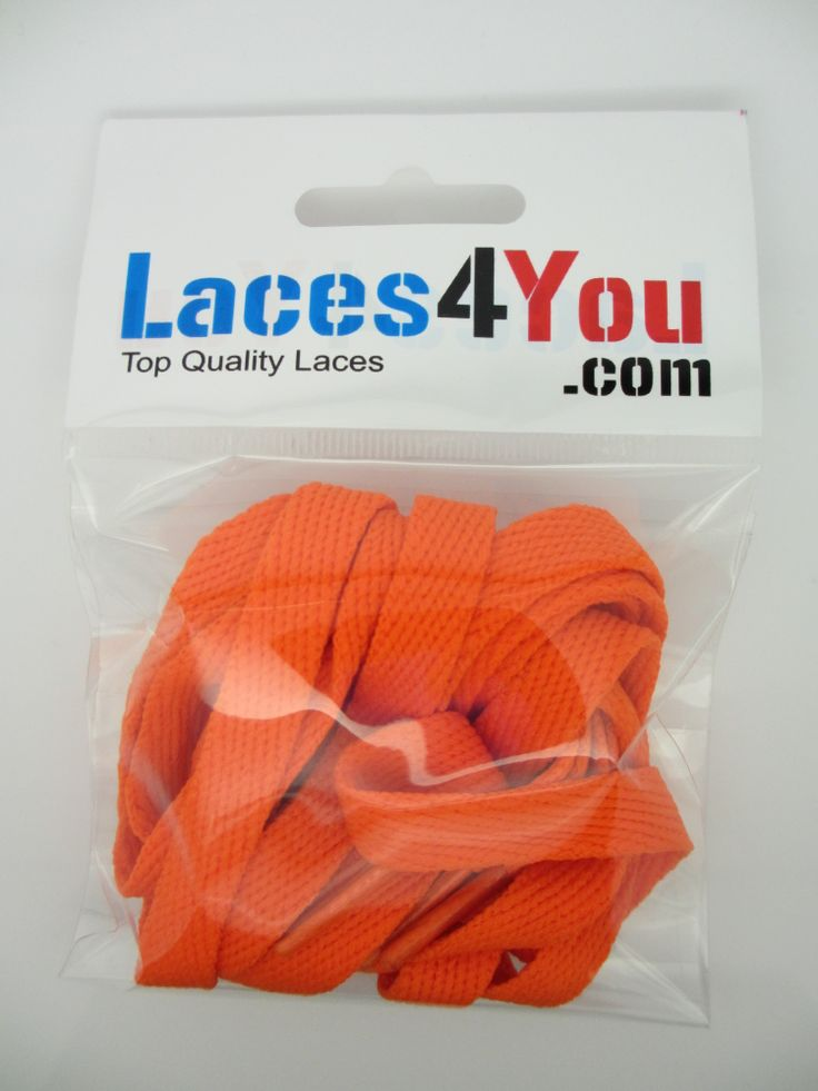 Flat Orange 10mm Laces.