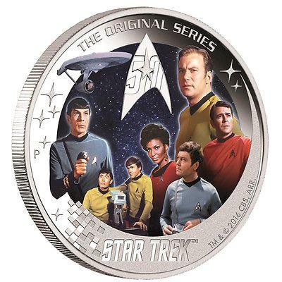 USS Enterprise Crew Silbermünze 2016 PP 2 oz