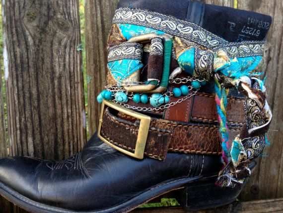 Gypsy Boho Southwestern Native American Cowgirl Boots size 8, Sante Fe Sally Boots  boot belt