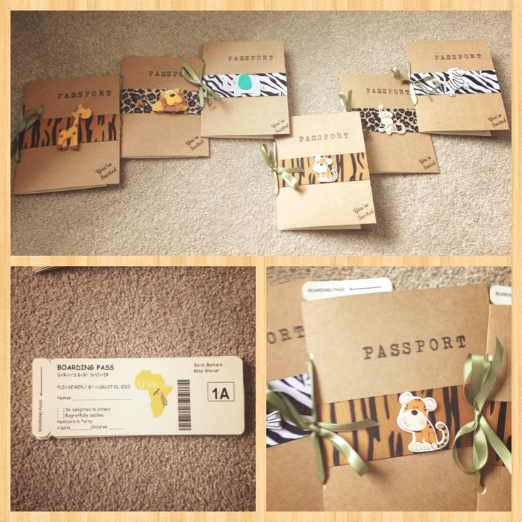 Safari baby shower invited made by me