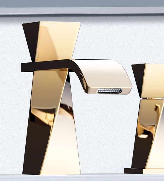 ♂ Unique minimalist product design Turn - from sculpture to tap by Joerger