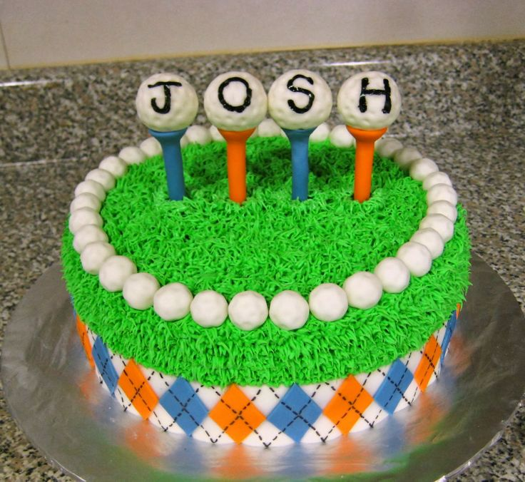 Golf Themed Decorated Cakes Perfectend for