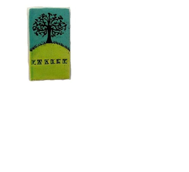 Family tree ceramic tile by Monster, Hayley Hamilton | Gifts online, flying fish design nz