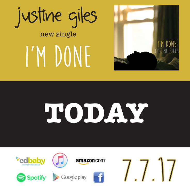 My new single is available TODAY! WORLDWIDE! https://itunes.apple.com/ca/album/im-done/id1251059759?i=1251059760&app=music&ign-mpt=uo%3D4