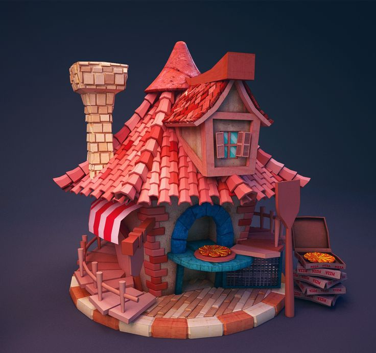 Build pizza by Amine Bouafif | Cartoon | 3D | CGSociety
