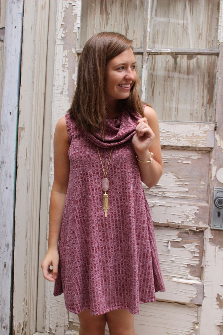 Mer enn 20 bra ideer om Cowl neck sweater dress på Pinterest ...