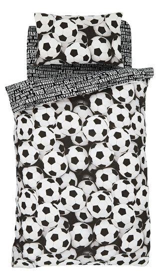 Voetbal dekbedovertrek zwart/wit € 24,95-Muurdeco4kids