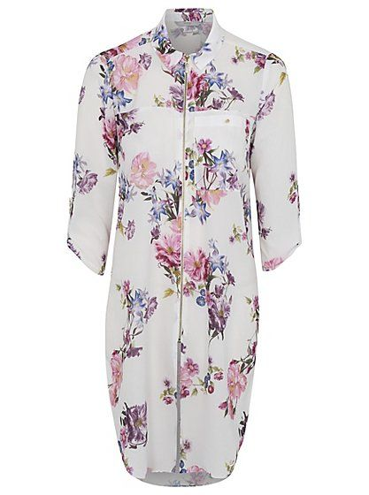 Longline Floral Zip-up Shirt, read reviews and buy online at George at ASDA. Shop from our latest range in Women. The fashion world is in love with longline ...