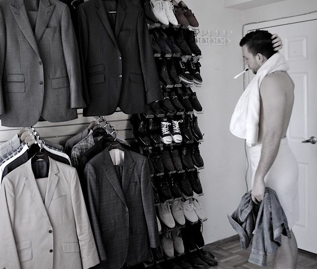 NEED this setup in a big walk-in closet.: Organizing Ideas, Organization, Walk In Closet, Mens Style, House Ideas, Closets, Wardrobe, Men Closet