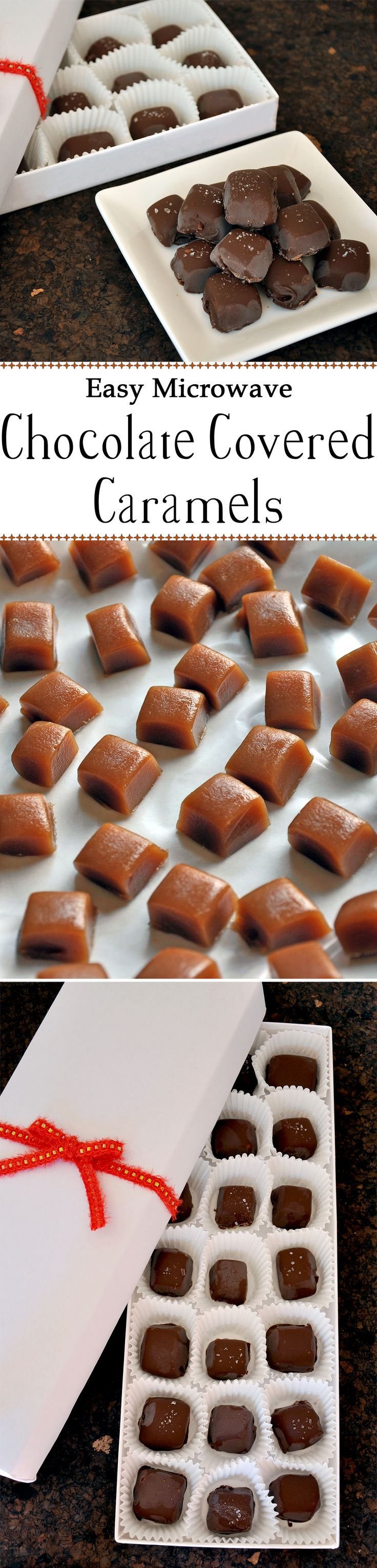 Super Easy Chocolate Covered Caramels