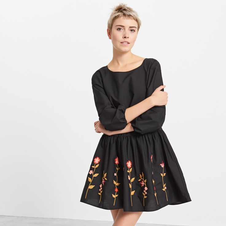 Dress with embroidered pattern, RESERVED