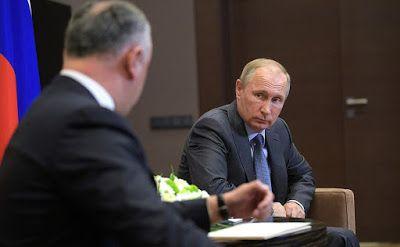Vladimir Putin at the meeting with President of Moldova Igor Dodon.