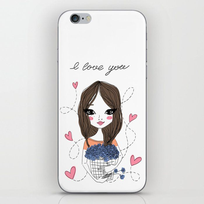 Flower Girl Iphone Case Not Looking For A Case But Want To Customize Your Phone With Rad Designs All You Need Is Iphone Skins Girl Iphone Cases Iphone Cases
