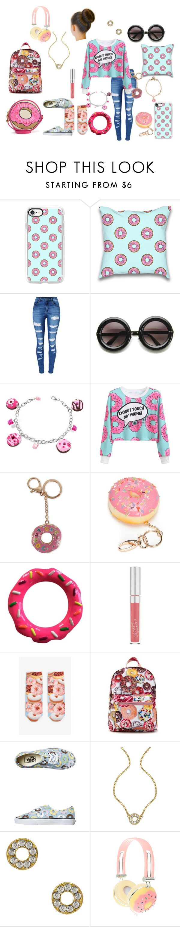 """""""Dounut"""" by zaria-costley ❤ liked on Polyvore featuring Casetify, WithChic, ZeroUV, Dolci Gioie, Viola, Red Camel, Kate Spade, Monki, Forever 21 and Vans"""
