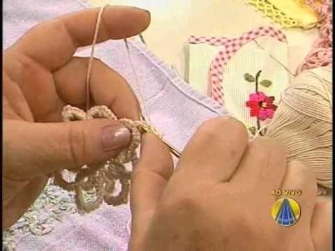 Flor de Frivolitê com Agulha de Crochê - Crochêlitê - YouTube