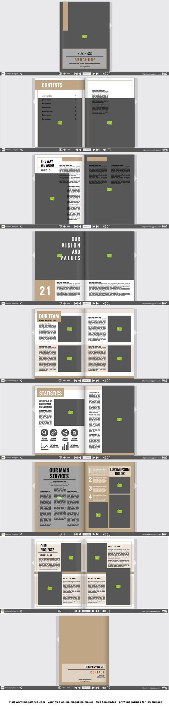 utwórz broszurę biznesową w wersji online i wydrukuj w atrakcyjnej cenie pod  https://pl.magglance.com/broszura/broszura-utworz #broszura #szablon #design #wzór #przykład #template #gazetka firmowa #layout #utwórz #redaguj #cover