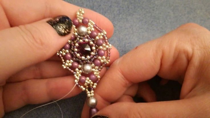 Orecchini Ada, con rocailles, perle da 4 e 6 mm e rivoli da 14