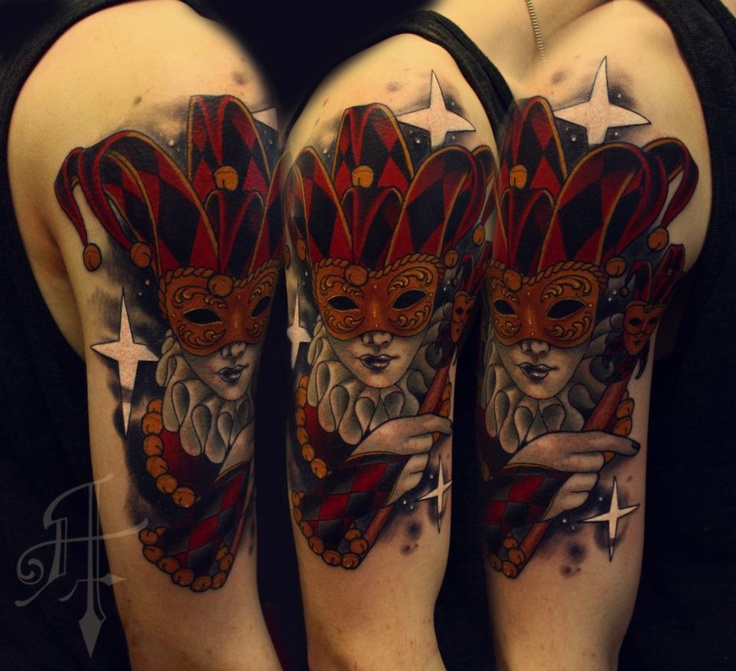 18 best jester tattoos images on pinterest jester tattoo tatoos and tattoo art. Black Bedroom Furniture Sets. Home Design Ideas