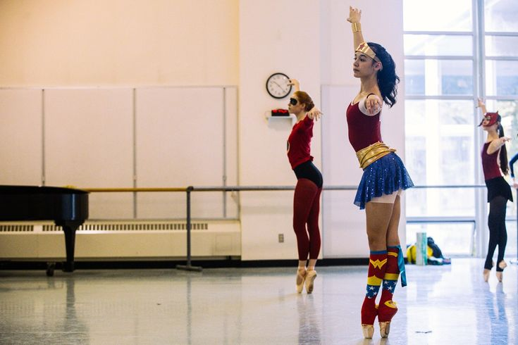 The young men and women of Pacific Northwest Ballet School's Professional Division ditched their standard leotards for one day in honor of Halloween.  (Image: Joshua Lewis / Seattle Refined)