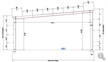 40' x 80' x 20' Steel Building for Sale - Alabama and surrounding regions, AL 57106 | LTH Steel Structures