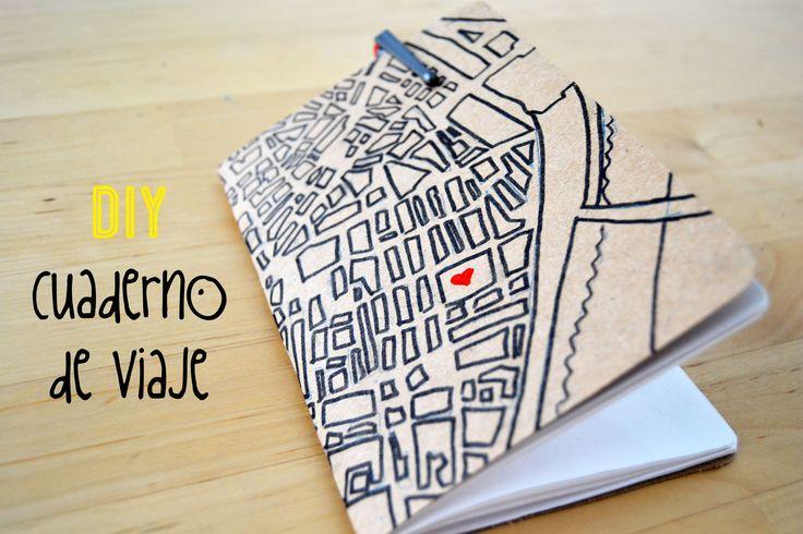Video tutorial para hacer un cuaderno de viaje para el verano, DIY video tutorial to make a summer notebook.
