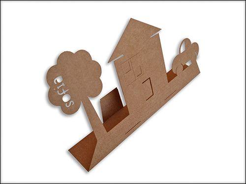 Recotables cartón kraft. Ilustración ciudad. #manualidades para niños Sofia's things