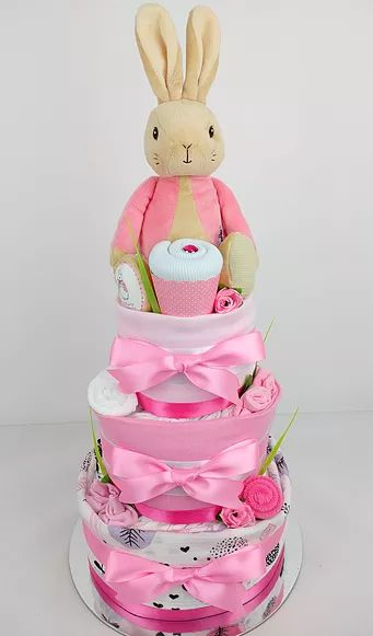61 best baby girl nappy cakes images on pinterest nappy cakes nappy cake for baby showers maternity farewell or a new arrival gift delivering to brisbane sydney melbourne more negle Image collections