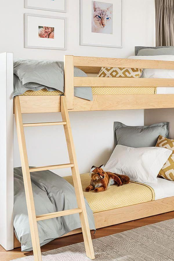 Great For Smaller Rooms The Moda Mini Bunk Bed Gives You All The Function Of A Bunk Bed While Maximizing Bedroom Squ Modern Bunk Beds Cool Bunk Beds Bunk Beds