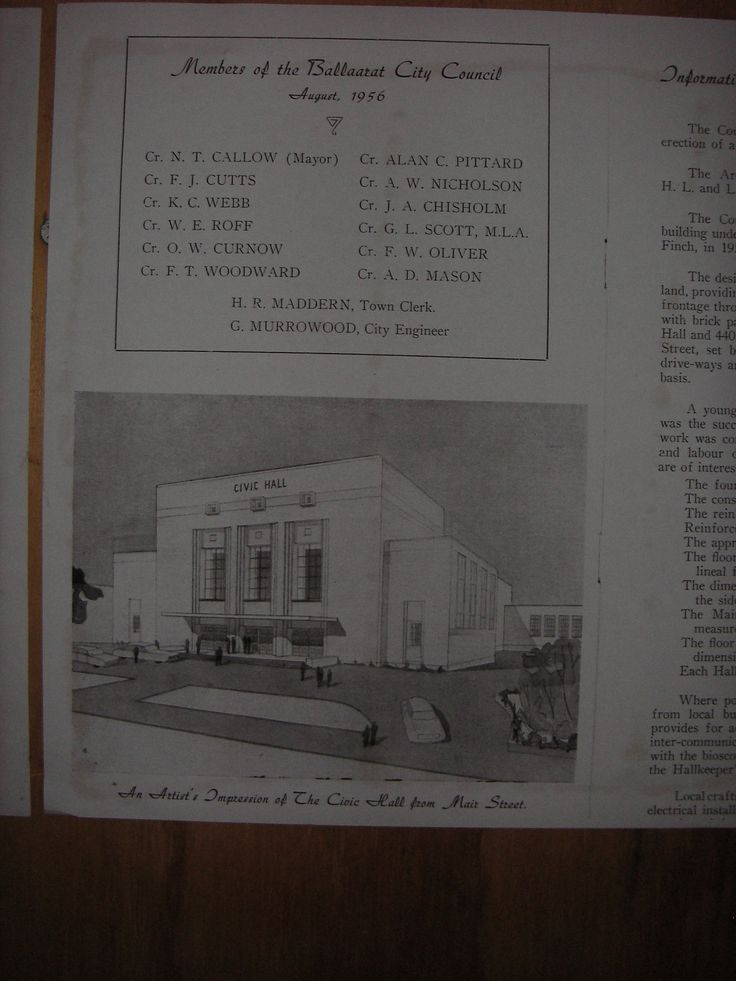 1956 artists impression of the Civic Hall