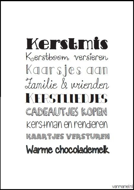 Kerstmis - #Christmas - #Weinachten - Buy it at www.vanmariel.nl - Poster € 3,95 - Card € 1,25