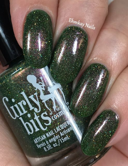 ehmkay nails: Girly Bits Colors of the Month: Grandma Got Run Over by a John Deere and Xmas & O's