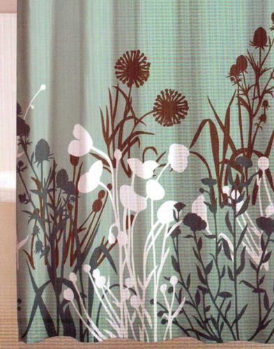 Floral Teal Brown White Aqua Plant Silhouette Quality