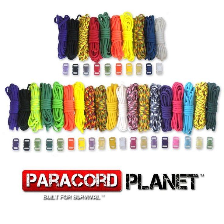 550 Mil Spec Type III 7 Strand Parachute Cord Paracord Bracelet Kit with Buckles #ParacordPlanet
