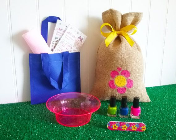 LOOTBAG  Spa/Manicure nail art party lootbags by theLootBagBarn