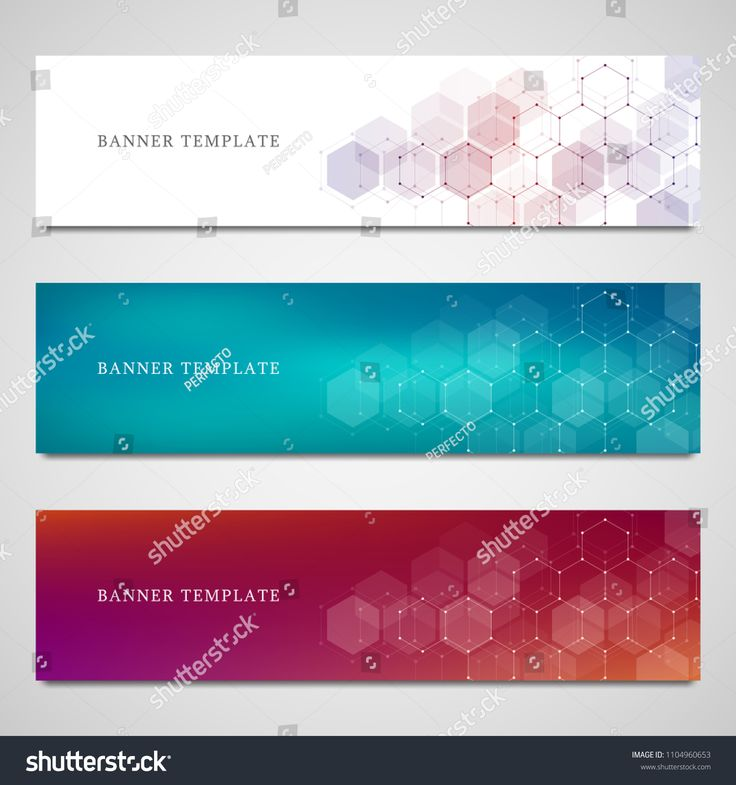 Science, medical and digital technology banners. Geometric abstract background with hexagons #Ad , #SPONSORED, #digital#technology#Science#medical
