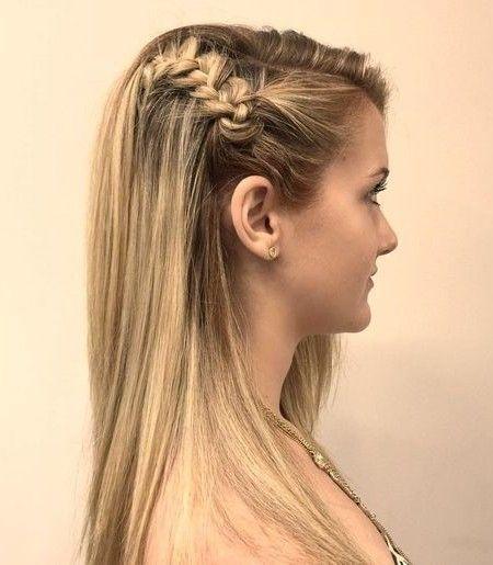 #hairstyle #hair  geflochtene Hälfte updo für Jugendliche 2016