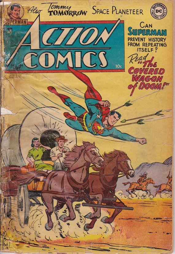 Action Comics 184  Septmeber 1953  DC Comics  Grade G