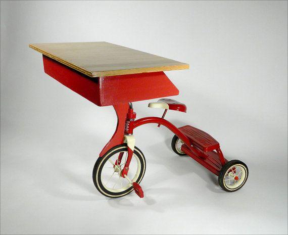 EDDIE'S Tricycle Children's Desk by RodneyAllenTrice on Etsy