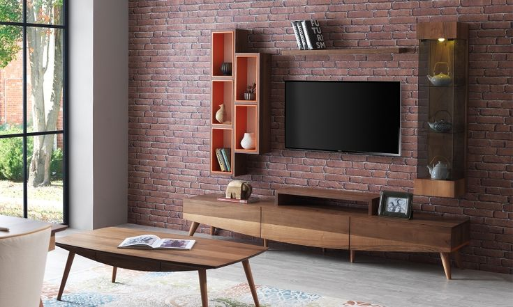Lancia Ahşap Modern Tv Ünitesi