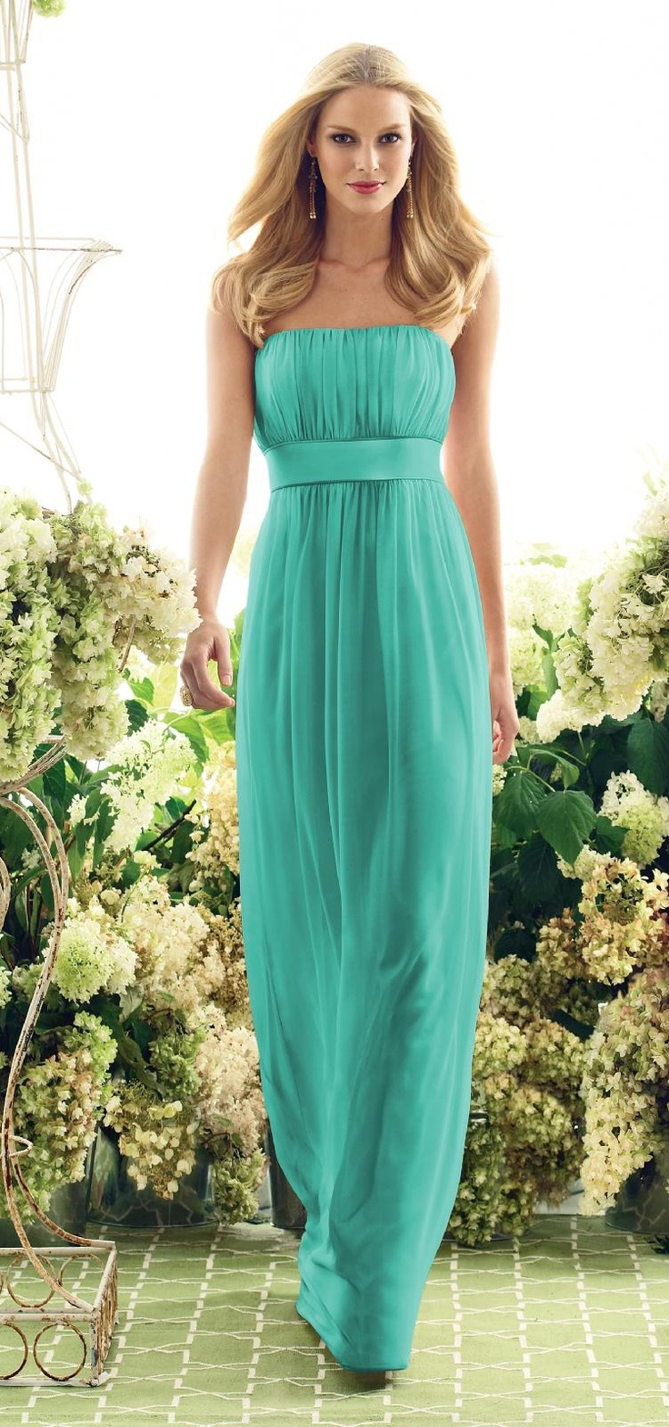 Turquoise bridesmaid dress like the style perhaps knee for Calf length wedding dresses