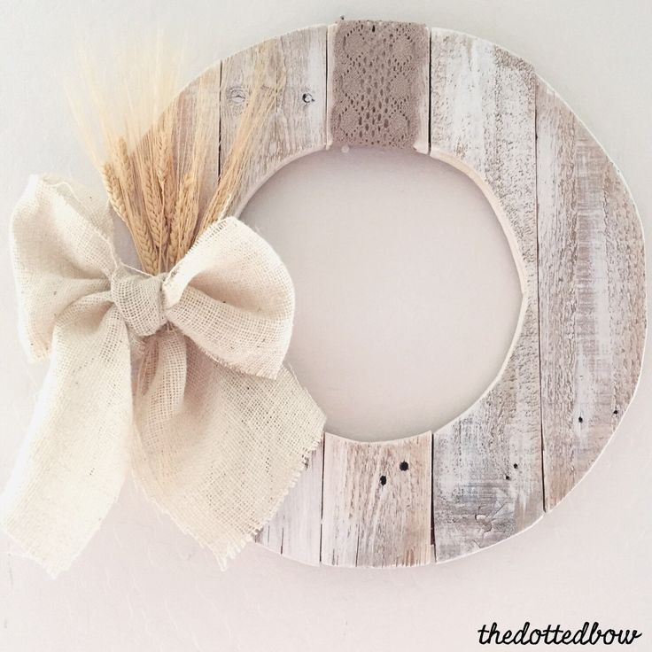 A personal favorite from my Etsy shop https://www.etsy.com/listing/253356595/neutral-fall-wheat-pallet-wreath