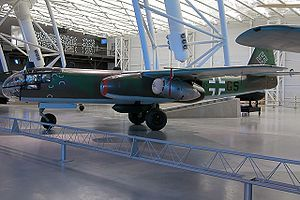 Arado 234B Blitz The Arado Ar 234 was the world's first operational jet-powered bomber, built by the German Arado company in the closing stages of World War II.