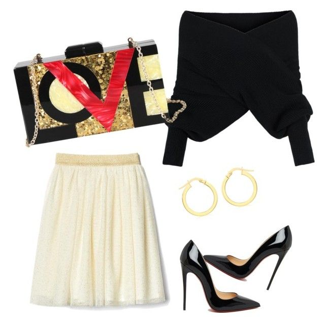 """LOVEly afternoon"" by alexiss-yvore on Polyvore featuring Christian Louboutin, WithChic, Diophy, IBB and statementbags"